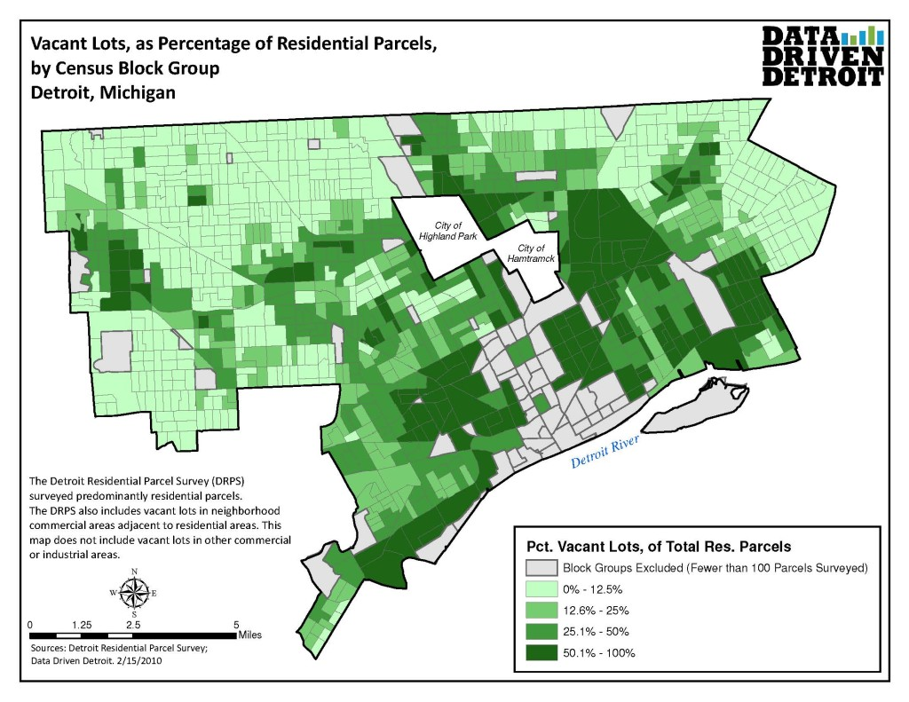 Percentage of Vacant Lots