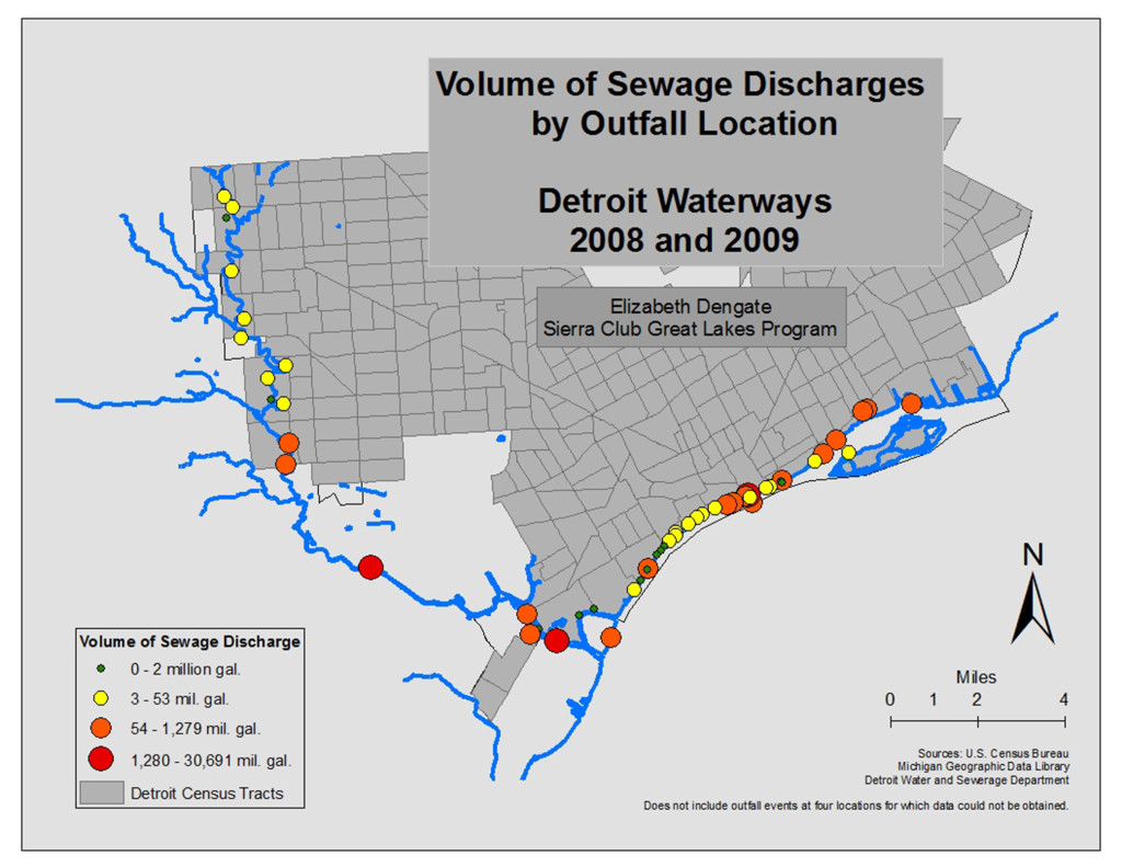 Volume of Sewage Discharges by Outfall Location